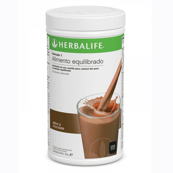 batido de chocolate de herbalife