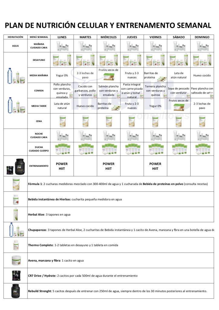 menu semanal herbalife