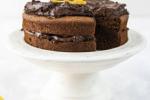 pastel de chocolate y naranja herbalife
