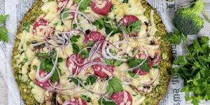 pizza de brocoli herbalife
